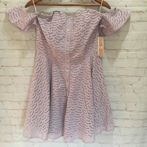 NWT Gianni Bini lilac eyelet fit and flare dress